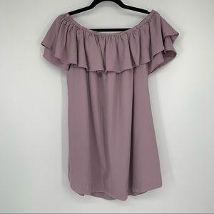 NWT Wishlist Apparel Lavender Off-Shoulder Tunic
